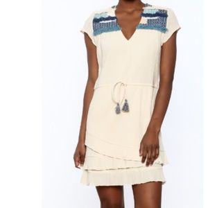 NWT $340 Pepin X Anthropologie Embroidered Dress